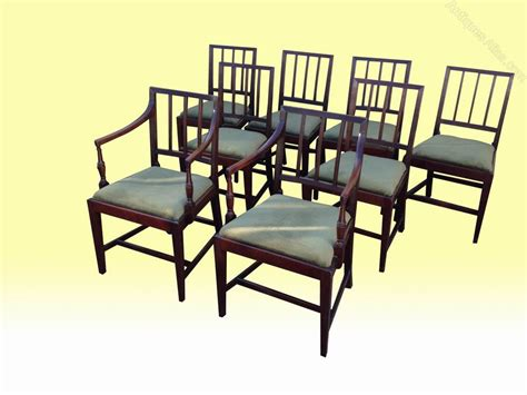 set of eight dining chairs set of eight george 111 dining chairs antiques atlas