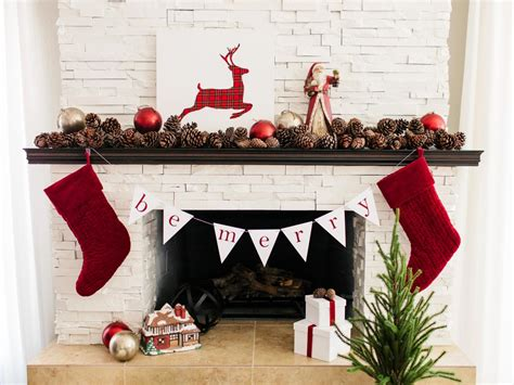 How To Hang Garland On Fireplace by For Pinecone Garland For The Holidays