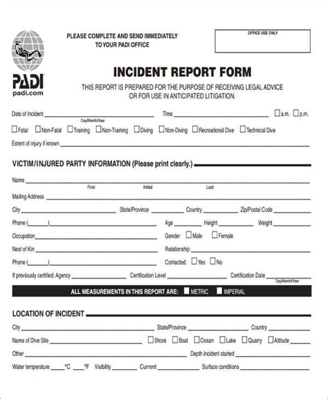 office report template 47 incident report sles
