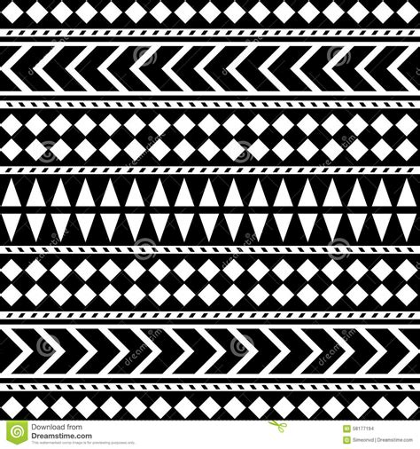pattern tribal vector tribal seamless pattern ethnic vector background stock