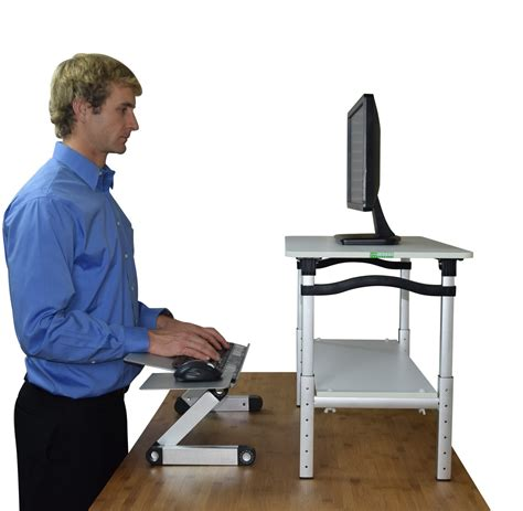 Standing Desk Conversion Kit by Monitor Stands Be Your Professional Self