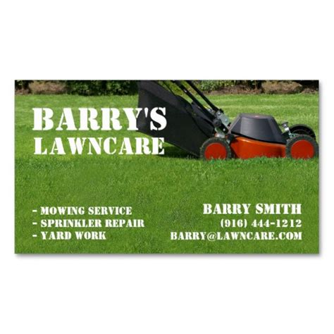 Landscaping Business Cards Ideas