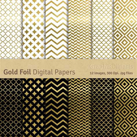 gold patterned digital paper gold foil digital papers quot gold papers quot gold patterns