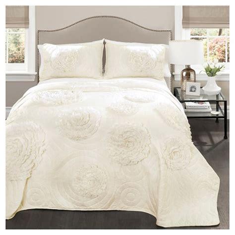 lush decor serena 3 piece comforter set serena quilt ivory 3 piece set lush decor target