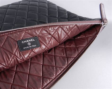 Ocase Lambskin With Box 1 chanel large black lambskin o clutch bag at 1stdibs