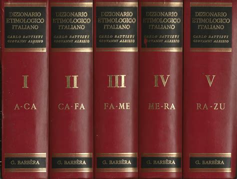 libreria coliseum dizionario etimologico italiano battisti carlo alessio