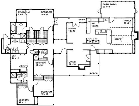 l shaped ranch house plans l shaped one story floorplan 2450 sf architecture pinterest