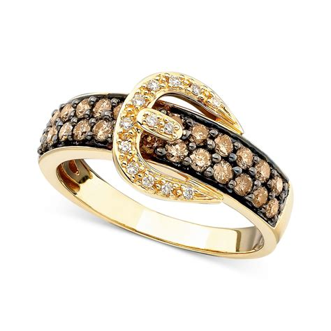 le gold le vian chocolate 5 8 ct t w and white