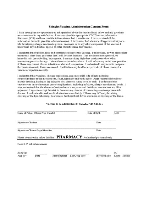 vaccine consent form template vaccine consent form template resume template sle