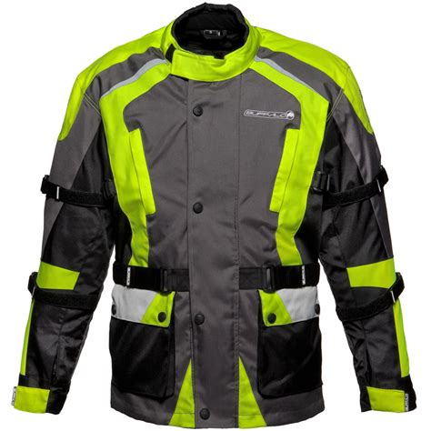 biker safety jackets buffalo storm waterproof ce motorcycle touring hi vis
