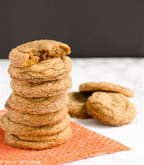 pumpkin molasses cookies chewy pumpkin molasses cookies ready to yumble