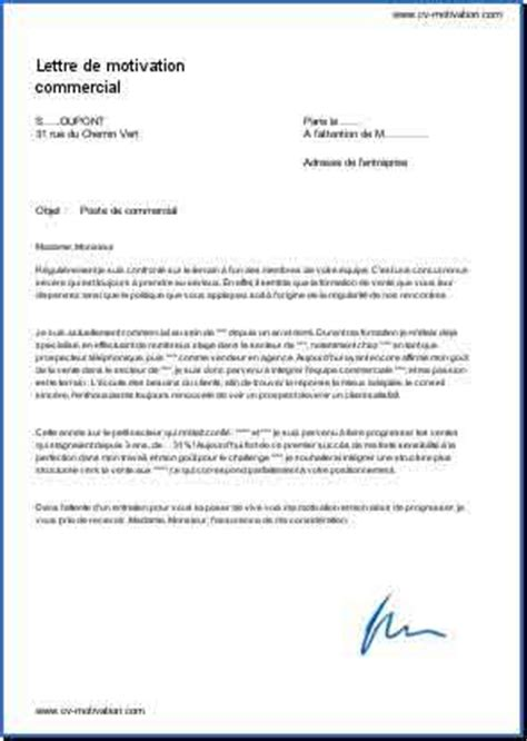 Exemple De Lettre Commercial Commercial Exemple De Lettre De Motivation