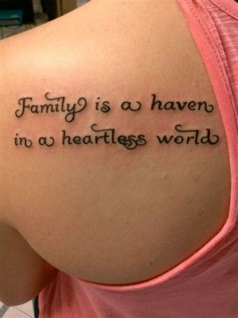 haven tattoo quot family is a in a heartless world quot speaks