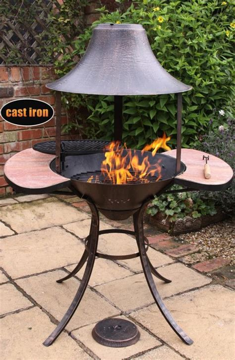 chiminea grill grate cast iron chiminea with swivelling bbq grill bbq