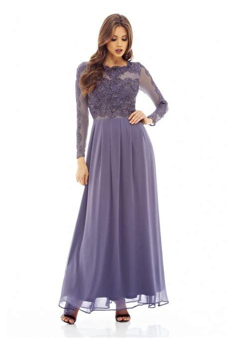 Dress Maxy Grey s sleeved lace top maxi grey dress ax usa fashion dresses black dresses
