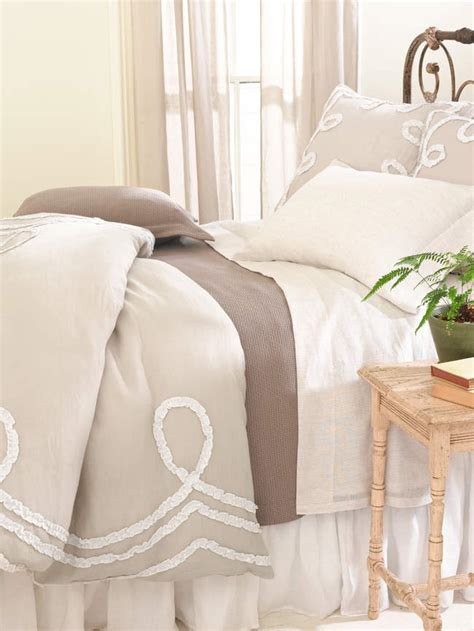 pine cone hill bedding ruched linen bedding platinum white bedding by pine