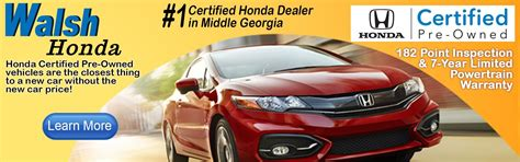 walsh honda in macon ga walsh honda new used car suv truck sales macon