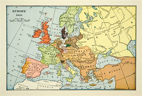 the nineteenth century europe 1939 print map europe turkey russia france 19th century great britain xena9 ebay