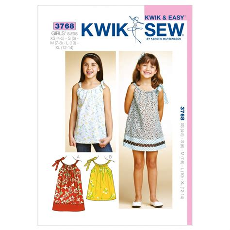 dress pattern kwik sew kwik sew childrens sewing pattern 3768 girls summer dress