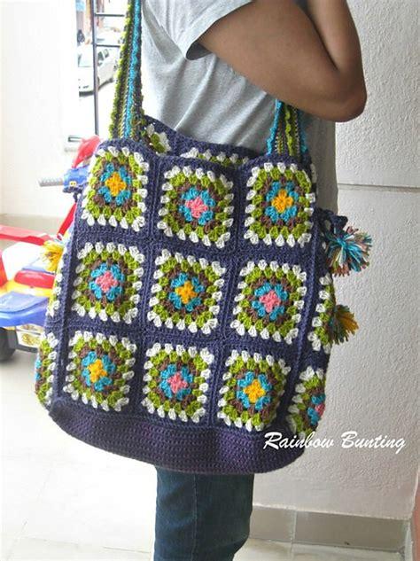 crochet pattern granny square bag free pattern make your own crochet granny square bag