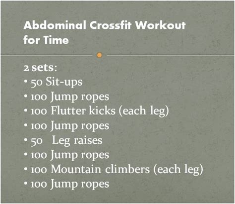 crossfit ab workout great at home wod