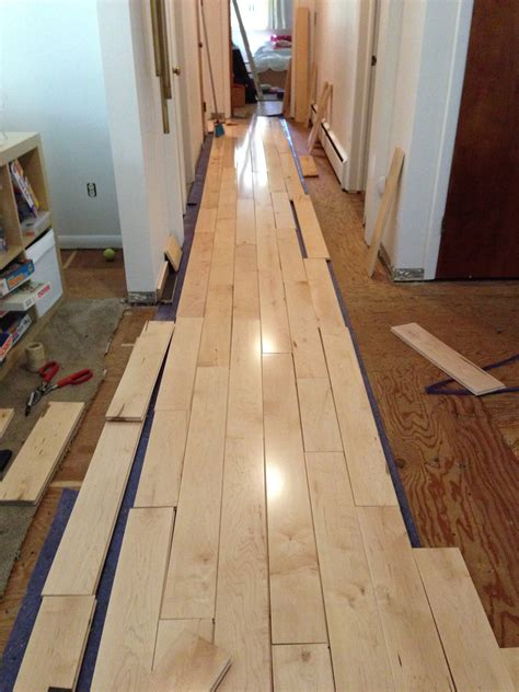 Racking Hardwood Floors learning how to rack our maple hardwood flooring merrypad