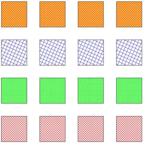 pattern color tikz tikz pgf custom hatching pattern arbitrary direction
