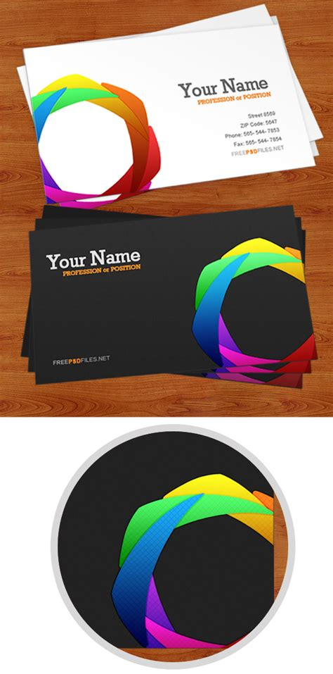Free Printable Business Card Templates Psd by Business Card Psd Template Free Psd Files