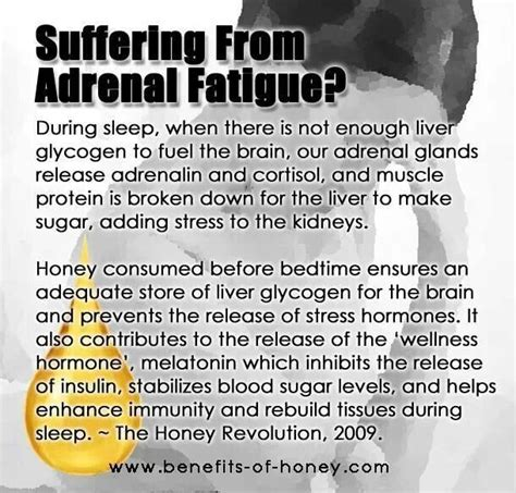 raw honey before bed adrenal fatigue clean eating pinterest