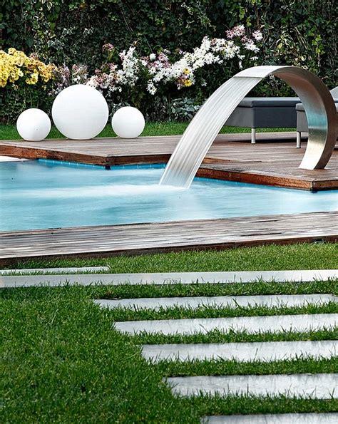 diy pool fountain ideas pool design ideas breathtaking pool waterfall design ideas