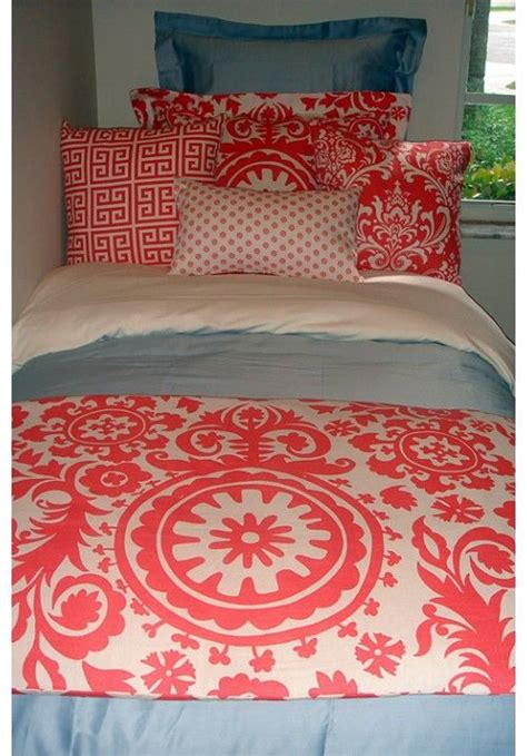 teen girl bed in a bag coral damask designer teen dorm bed in a bag teen girl