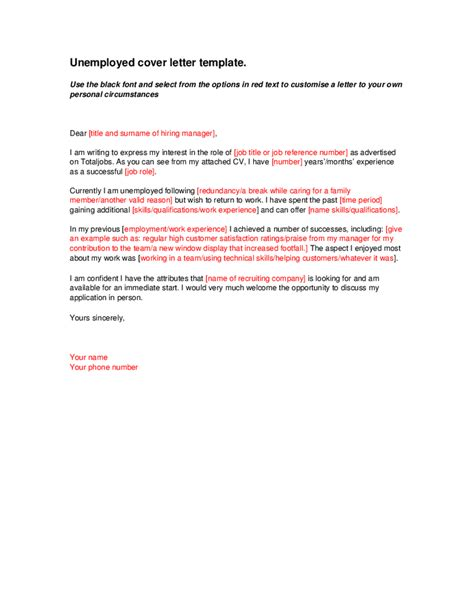 Cover Letter Exles Uk Retail cover letter exles uk unemployed 28 images cover