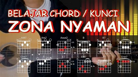 tutorial gitar zona nyaman belajar kunci gitar zona nyaman fourtwnty versi asli