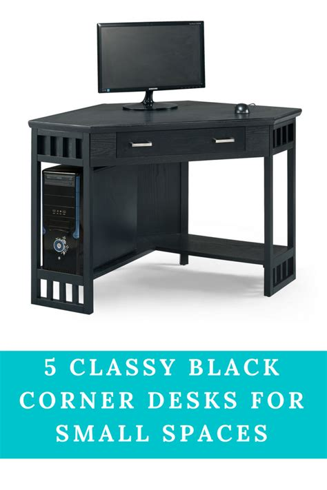 Corner Desk For Small Spaces Black Corner Desk For Small Space Furniturable