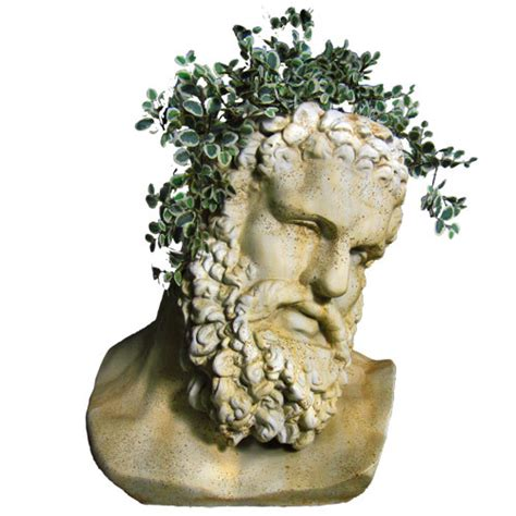large head planters hercules bust planter orlandi statuary online