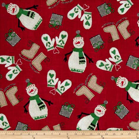 Fabric Paper - craft paper happy snowmen discount