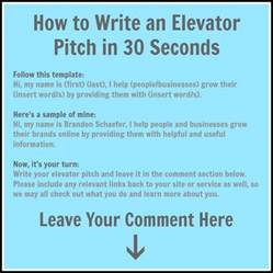 30 second pitch template 137 best images about profilia cv elevator pitch
