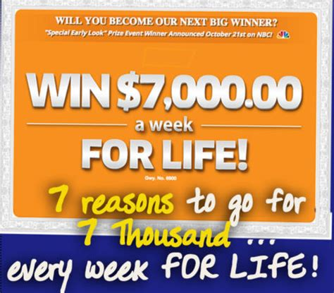 Pch 7000 A Week - top 7 reasons to go for 7 000 a week for life pch blog