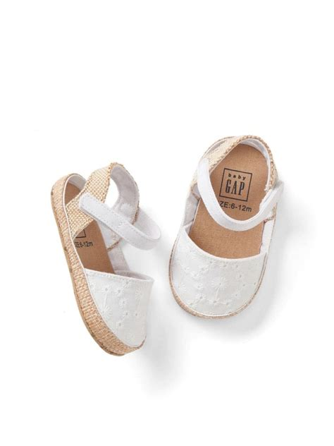 baby shoes 3 6 months gap baby size 3 6 months white eyelet espadrilles