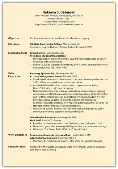 Resume Inflation Definition definition of resume subheadings