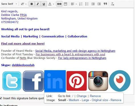 Social Media Search By Email Address Adding Social Media Icons To Your Email Signature Debbiedooodah