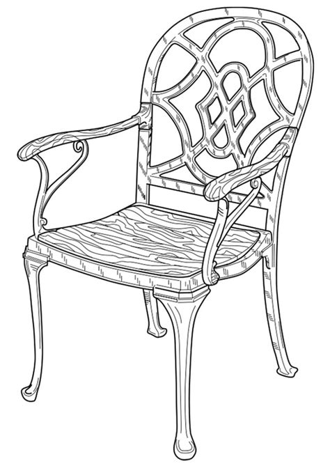 stuhl zum ausmalen malvorlage stuhl ausmalbild 19101