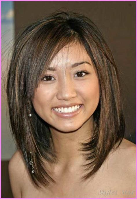 angeled bob haircuts for round faces medium length inverted bob haircut http stylesstar com