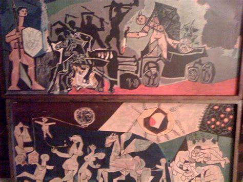 picasso paintings war pablo picasso pair chromoliths quot war quot and quot peace quot