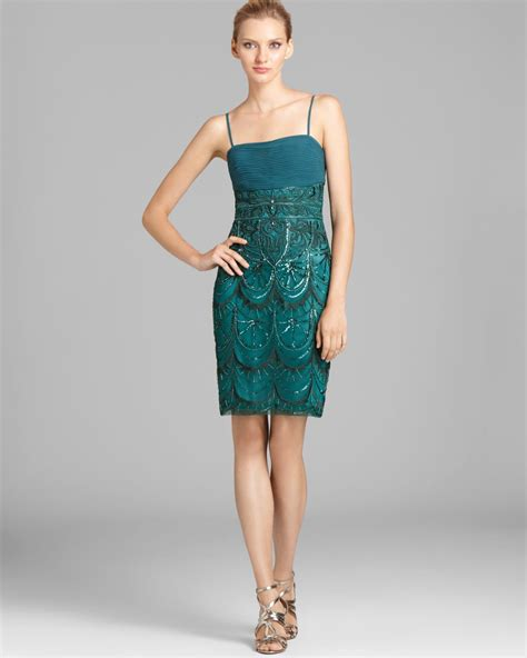 T2b Spotting The Meister Club Wear by Sue Wong Spaghetti Sequin Dress In Green Lyst