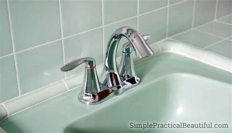 how to put in a bathroom faucet how to install a bathroom faucet simple practical beautiful