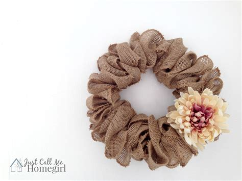 quick easy burlap fall wreath tutorial love of easiest burlap wreath video tutorial just call me homegirl
