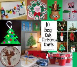 Fun Easy Holiday Crafts - 10 easy kids christmas crafts