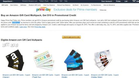 Amazon Prime Gift Card Deal 2015 - the three best amazon prime day deals the frugal girl