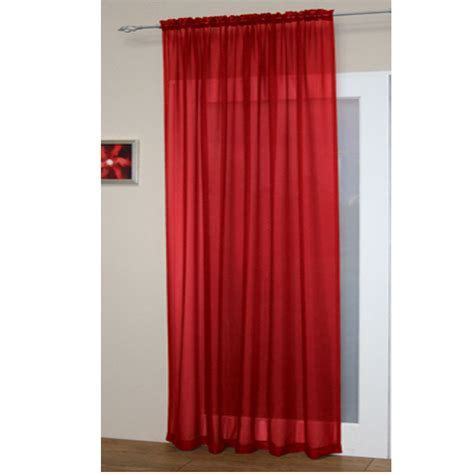 curtain top voile net slot top rod pocket curtain panel bedroom